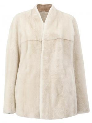 Двустороннее короткое норковое пальто 32 Paradis Sprung Frères. Цвет: телесный