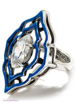 Кольцо Jenavi. Цвет: серебристый, белый, синий