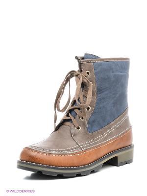Ботинки INARIO. Цвет: коричневый