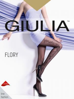 Фантазийные колготки FLORY 10, 2 пары Giulia. Цвет: светло-коричневый