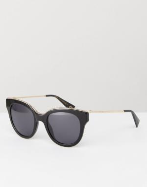 Marc Jacobs Черные солнцезащитные очки кошачий глаз. Цвет: черный