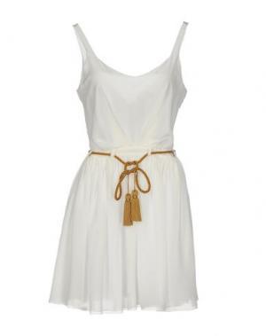 Короткое платье HEIMSTONE. Цвет: белый