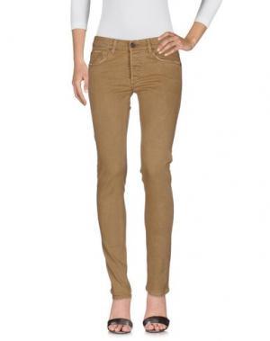 Джинсовые брюки MAISON CLOCHARD. Цвет: верблюжий