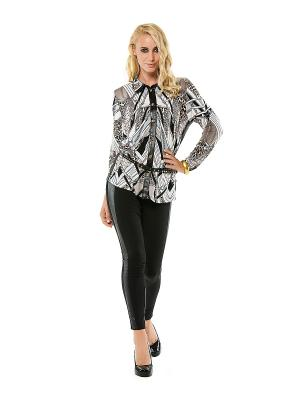 Блузка HELMIDGE. Цвет: черный, бежевый, белый