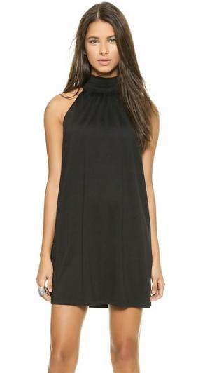 Мини-платье с воротником под горло Susana Monaco. Цвет: голубой