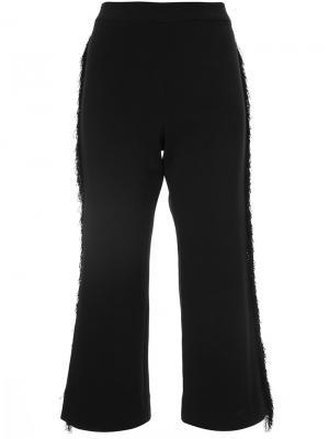 Укороченные расклешенные брюки Jonathan Simkhai. Цвет: чёрный