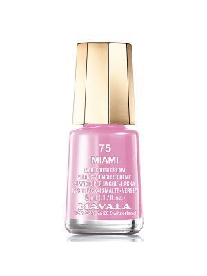 Лак для ногтей тон 75 Miami Mavala. Цвет: розовый