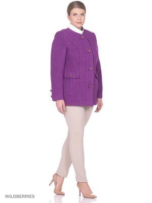 Пальто Фарт Фаворита. Цвет: фиолетовый