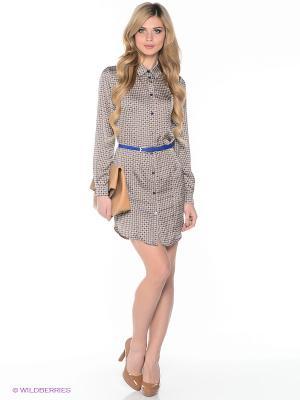 Платье Elena Shipilova. Цвет: белый, синий, желтый