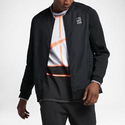 Мужская теннисная куртка Court Nike. Цвет: черный