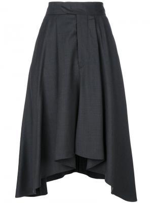 Асимметричная юбка Misa Isabel Marant. Цвет: серый