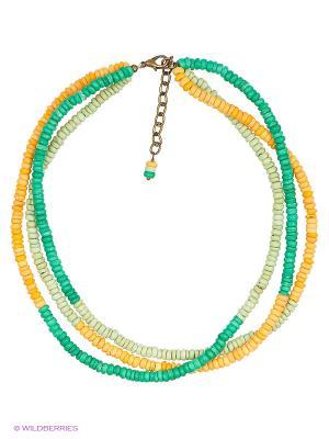 Ожерелье Polina Selezneva. Цвет: зеленый, оранжевый