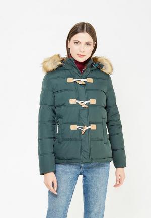 Куртка утепленная Твое. Цвет: зеленый