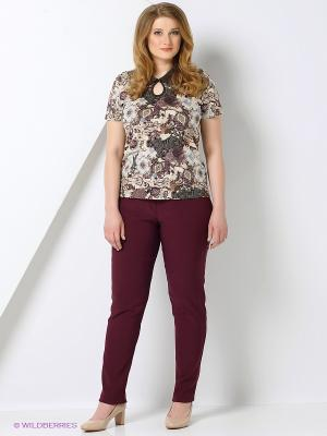 Блузка СТиКО. Цвет: коричневый, бежевый, черный, темно-коричневый, серый