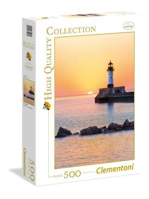 Итальянский пазл Clementoni. Серия High Quality Закат на побережье с маяком. Clementoni. Цвет: белый, красный, синий