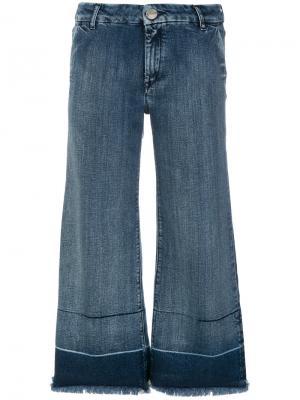 Широкие укороченные джинсы The Seafarer. Цвет: синий