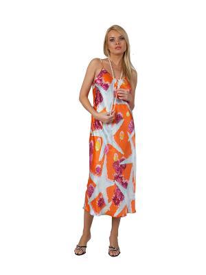 Сорочка Lelio. Цвет: оранжевый