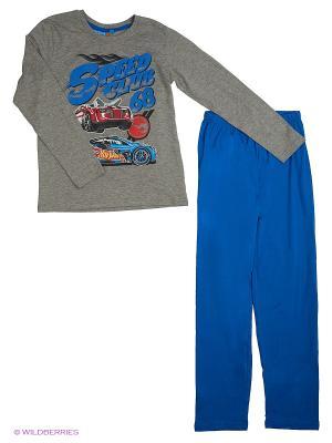 Пижама Hot Wheels. Цвет: серый меланж, синий