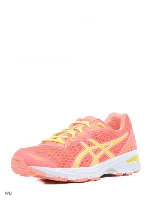 Кроссовки GT-1000 5 GS ASICS. Цвет: красный, желтый, розовый