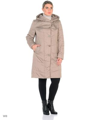 Утепленное пальто MONTSERRAT. Цвет: бежевый