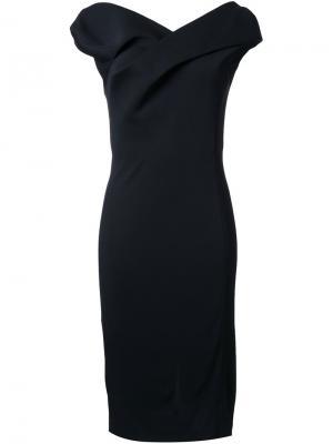 Скульптурированное платье миди Chalayan. Цвет: чёрный
