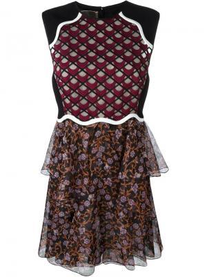 Платье с тюлевой вставкой Giambattista Valli. Цвет: чёрный