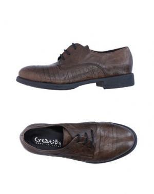 Обувь на шнурках CREATIVE. Цвет: зеленый-милитари