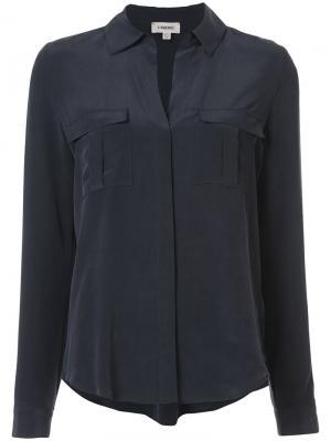 Рубашка с карманами Lagence L'agence. Цвет: синий
