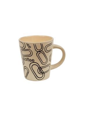 Кружка  Цепочка Elff Ceramics. Цвет: кремовый