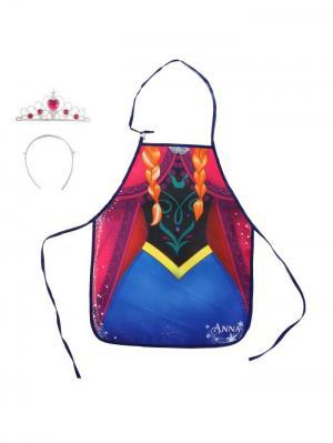 Фартук с диадемой, Холодное сердце Disney. Цвет: черный, бордовый