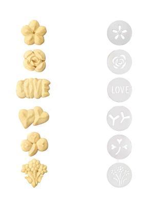 Формочки для пресса печенья OXO 1272080. Цвет: прозрачный
