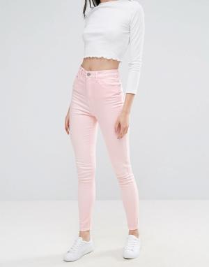 Waven Розовые джинсы скинни с завышенной талией Anika. Цвет: розовый