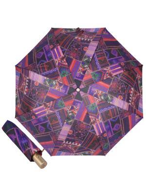 Зонт складной M&P C5867-OC Entico Orange. Цвет: сливовый, лиловый, темно-фиолетовый