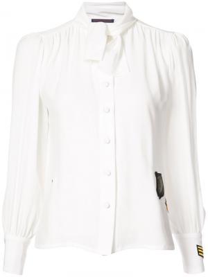 Блузка с завязками на бант Harvey Faircloth. Цвет: белый