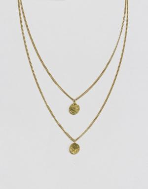 Made Двухслойное ожерелье. Цвет: золотой