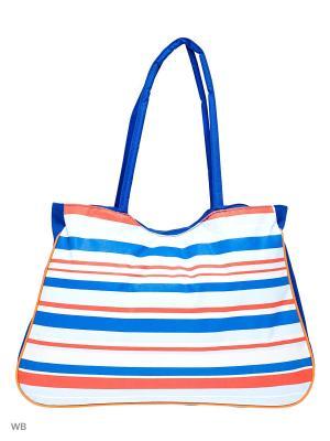 Пляжная сумка Modis. Цвет: белый, голубой, красный