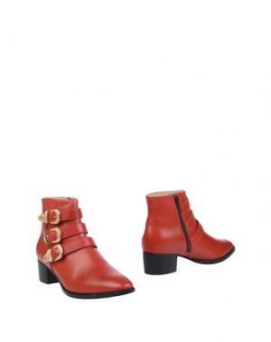 Полусапоги и высокие ботинки MR. WOLF. Цвет: кирпично-красный