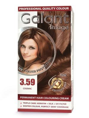 Cтойкая крем-краска для волос  GALANT 3.59 коньяк, 115 мл., (Болгария) Image. Цвет: кремовый