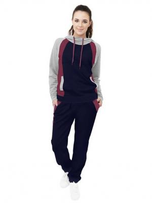 Спортивный костюм Валери Runika. Цвет: индиго, бордовый, серый меланж