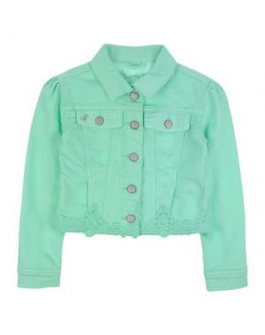 Джинсовая верхняя одежда PATRIZIA PEPE. Цвет: светло-зеленый