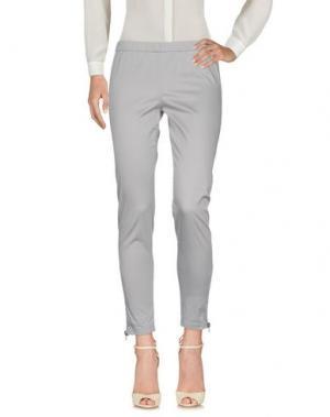 Повседневные брюки SILK AND SOIE. Цвет: светло-серый