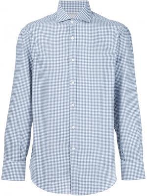 Рубашка в клетку Brunello Cucinelli. Цвет: зелёный