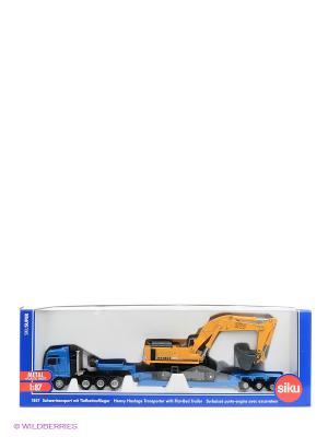Тягач с экскаватором SIKU. Цвет: синий, оранжевый