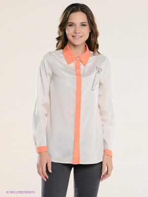 Рубашка Kling. Цвет: бежевый, оранжевый