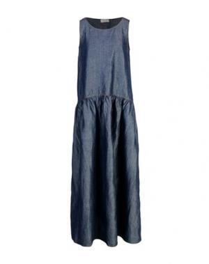 Длинное платье KI6? WHO ARE YOU?. Цвет: синий