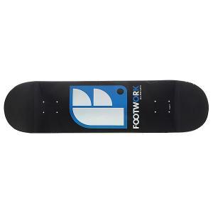 Дека для скейтборда  Original Logo Black 32.5 x 8.25 (21 см) Footwork. Цвет: белый,черный,голубой