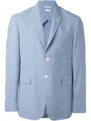 Пиджак в мелкую клетку Thom Browne. Цвет: синий