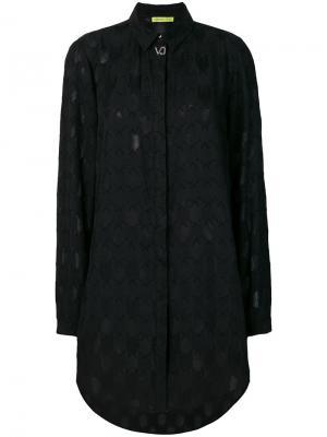 Текстурированная рубашка Versace Jeans. Цвет: чёрный
