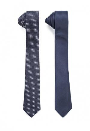 Комплект галстуков 2 шт. Piazza Italia. Цвет: синий