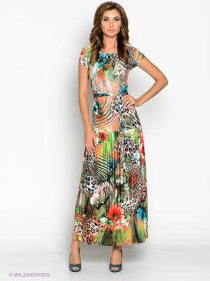 Платье МадаМ Т. Цвет: зеленый, бирюзовый, коралловый